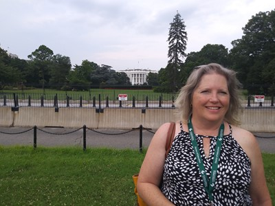 Mrs. Karen Ward at the White House in Washington DC