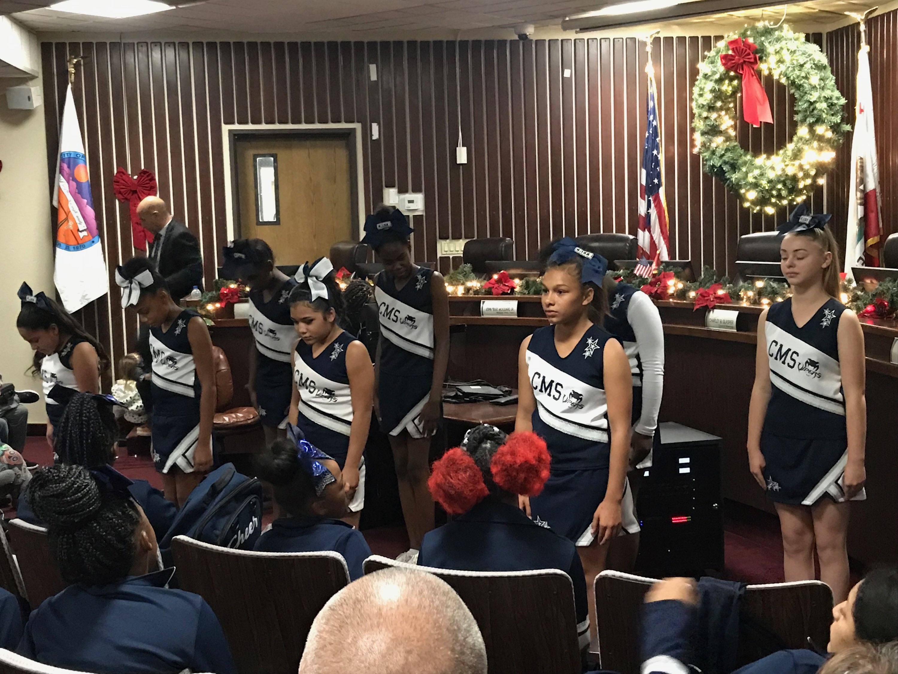 Viper Cheerleaders at Adelanto City Hall